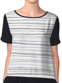 Beautiful old-fashion Striped Watercolor Black and White Pattern Chiffon Top