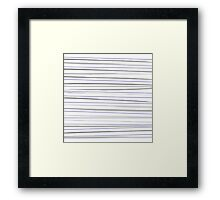 Beautiful old-fashion Striped Watercolor Black and White Pattern Framed Print