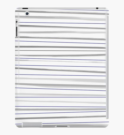 Beautiful old-fashion Striped Watercolor Black and White Pattern iPad Case/Skin