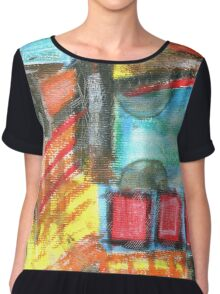 Crayon Color Explosion Chiffon Top