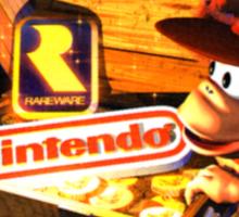 RareWare and Nintendo T-shirt Sticker