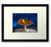 Apple, lemon and mandarins. Framed Print