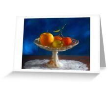 Apple, lemon and mandarins. Greeting Card