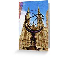 Rockefeller Center In New York City Greeting Card