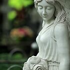 sad angel with flowers by mrivserg