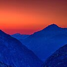 Grimsel valley at twilight by Yves Rubin
