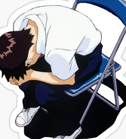 It all comes tumbling down (Shinji Ikari) Sticker