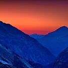 Grimsel valley at twilight (horizontal view) by Yves Rubin