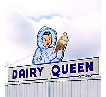 dairy queen's eskimo girl Photographic Print