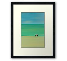 Tropical Layers Framed Print