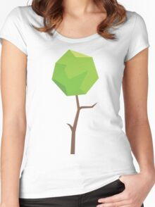 Nature Green Digital Leaf Women's Fitted Scoop T-Shirt