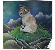 Terrier on a hill top Poster
