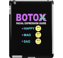 BOTOX - Facial Expression Guide (for dark colors) iPad Case/Skin
