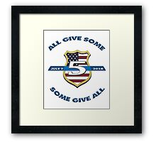 Dallas Police Officer Memorial Framed Print
