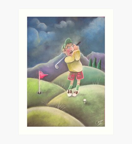 Out on the golf course Art Print