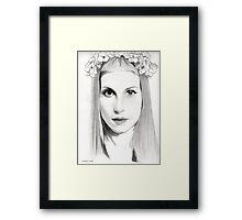 Hayley Williams Portrait  Framed Print