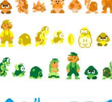 Rainbow Super Mario - Horizontal Version 2 Sticker