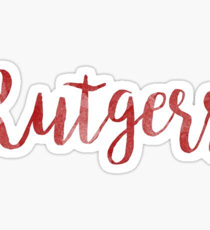 Rutgers RU university college nj scarlet knights  Sticker