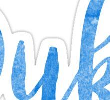 Duke university blue devils greek laptop sticker Sticker