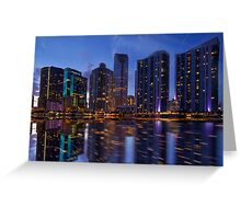 Miami Skyline at Twilight Greeting Card