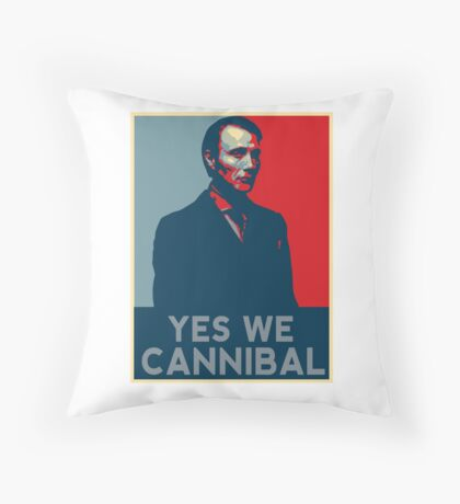 Yes We Cannibal - NBC Hannibal  Throw Pillow