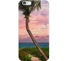 Beautiful palm on a tropic beach. iPhone Case/Skin