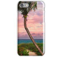 Beautiful palm on a tropic beach. iPhone Case/Skin
