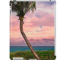 Beautiful palm on a tropic beach. iPad Case/Skin