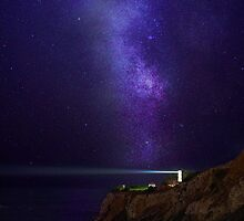 Lighthouse Under Milky Way stars by DDMITR