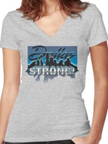 Dallas Strong! Women's Fitted V-Neck T-Shirt