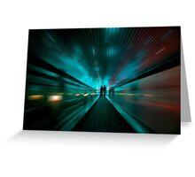 Tunnel Lights Greeting Card