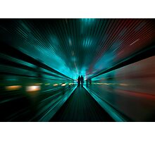 Tunnel Lights Photographic Print