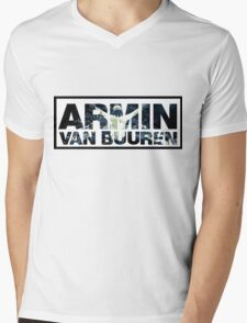 Armin Van Buuren Montage Mens V-Neck T-Shirt