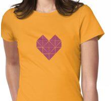 Geometric Heart Purple Womens Fitted T-Shirt
