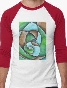 Natural Abstract Artwork Men's Baseball ¾ T-Shirt