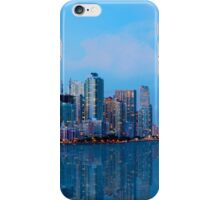 Miami Skyline at Twilight iPhone Case/Skin