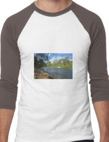 Boating on the Murray Men's Baseball ¾ T-Shirt
