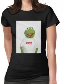 Kermit the frog for supreme  Womens Fitted T-Shirt