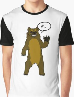 Friendly Cartoon Bear Graphic T-Shirt
