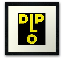 Diplo Head Jack U Framed Print