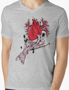 Hearth in Hand, Red and Naked hearth Mens V-Neck T-Shirt