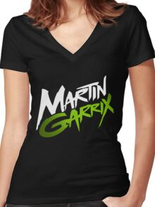Martin Garrix Green Women's Fitted V-Neck T-Shirt