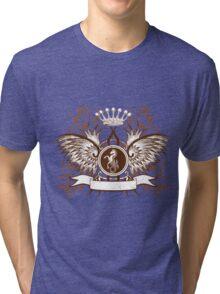 Beautiful and Cool Design vintage Horse and Crown Tri-blend T-Shirt