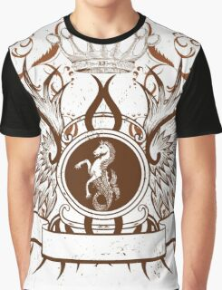 Beautiful and Cool Design vintage Horse and Crown Graphic T-Shirt