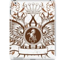 Beautiful and Cool Design vintage Horse and Crown iPad Case/Skin