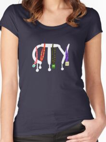 CTY Lanyards 11-14 Women's Fitted Scoop T-Shirt