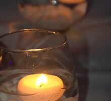Candles in a glass Sticker