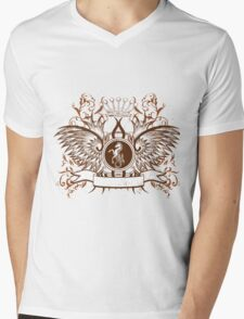 Vintage Crown, horse and Eagle cute Design Mens V-Neck T-Shirt