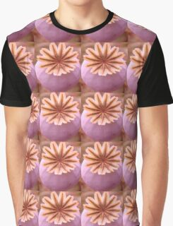 Pretty Plant Flower Pattern in Pink Graphic T-Shirt