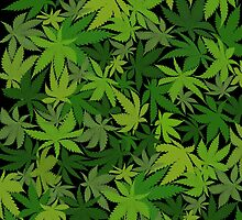 Weed Leaf Camo by TinaGraphics
